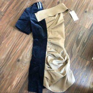 Rare! Jacquemus dress beige and navy mini dress
